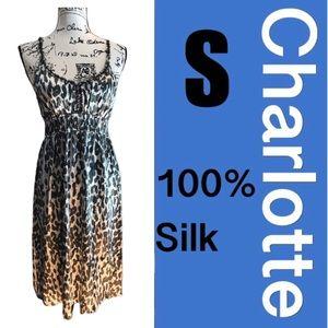 🌿100% Silk Dress, matching cardigan separate
